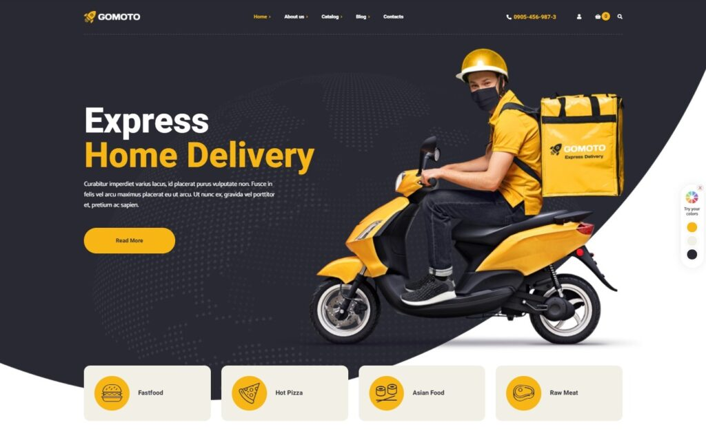Gomoto Food Delivery Medical Supplies WordPress Theme Preview ThemeForest