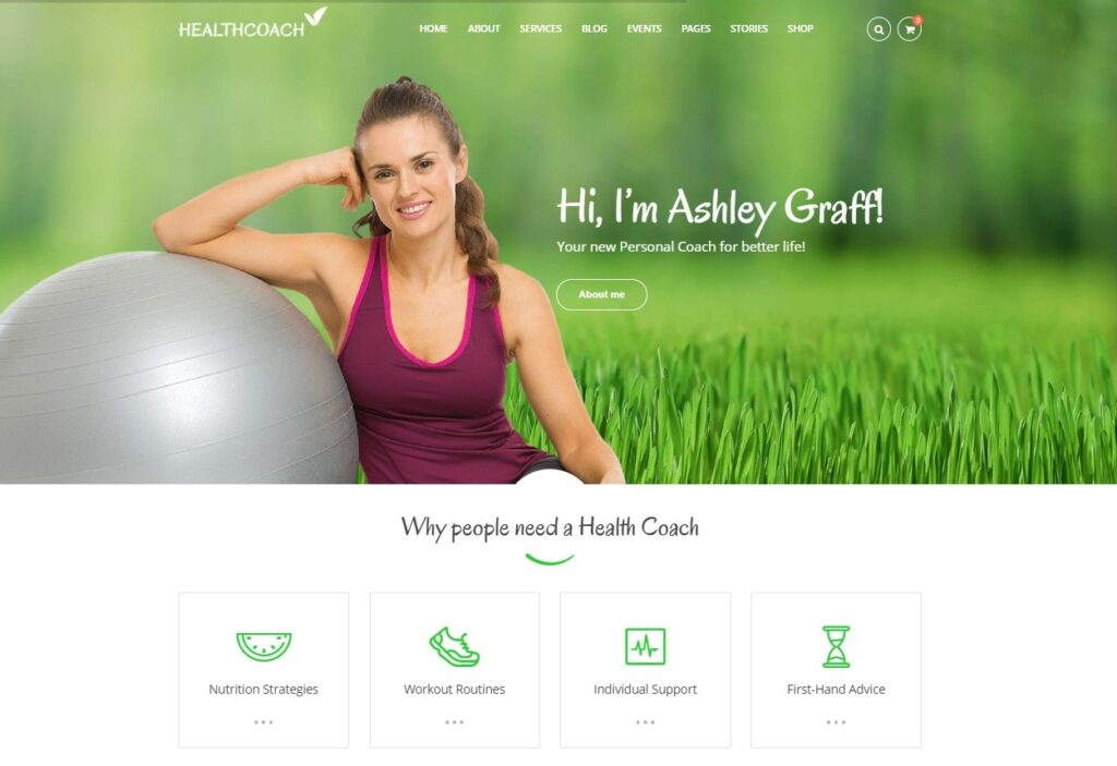 Health Coach Personal Trainer and Fitness WordPress