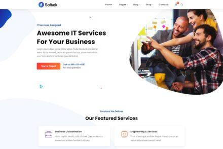 Information Technology Company WordPress Themes
