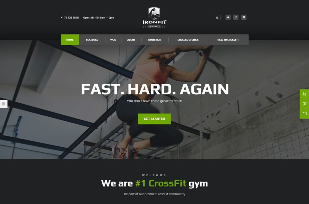 Ironfit Fitness Gym and Crossfit WordPress Theme Preview ThemeForest