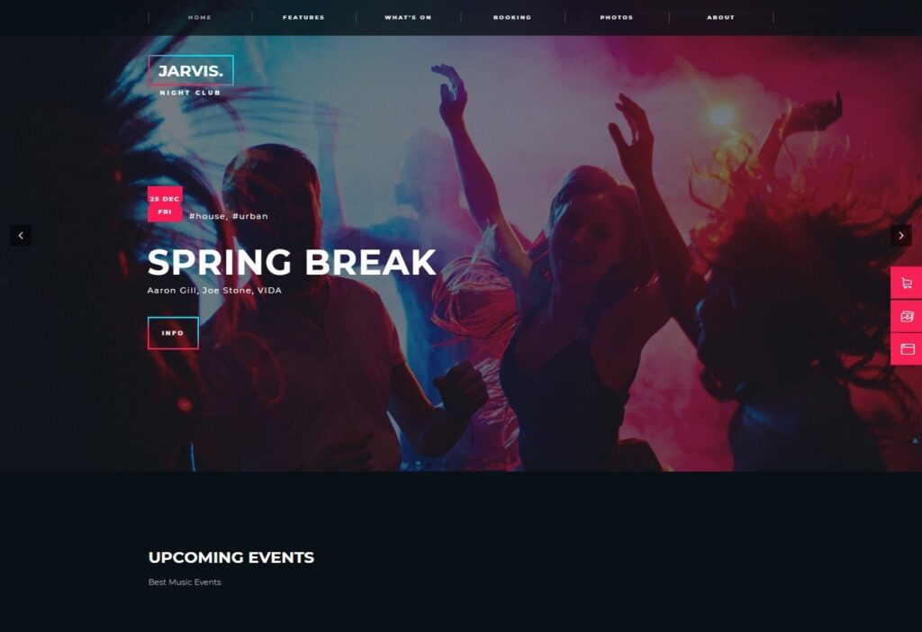 Jarvis Night Club Concert Festival WordPress Theme