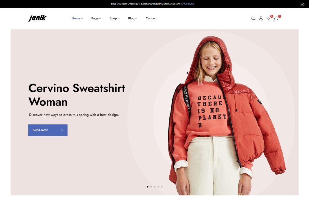 Jenik eCommerce and Fashion Store WordPress Theme
