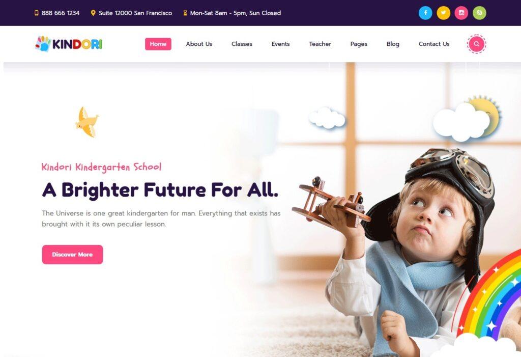 Kindori WordPress Theme for Kindergartens