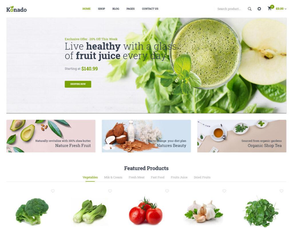Konado Organic Food WordPress Theme