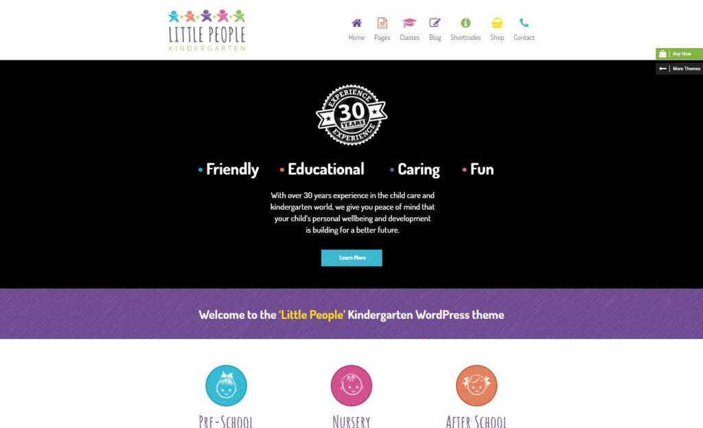 Little People Kindergarten WordPress Theme for PreScool Preview ThemeForest