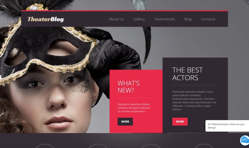 Live preview for Theater Responsive WordPress Theme 49628