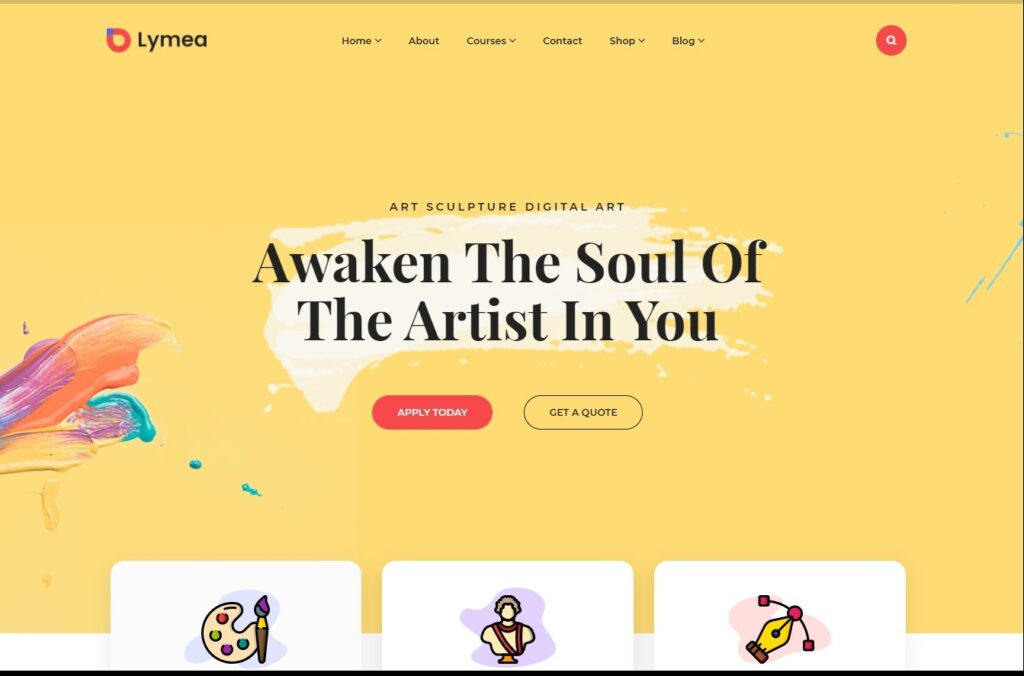 Lymea Art Music School WordPress Theme Preview ThemeForest 1