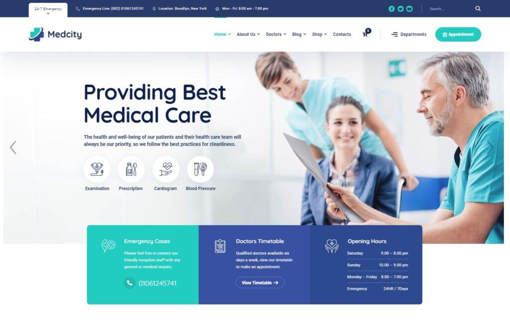 Medcity – Medical Healthcare WordPress Theme