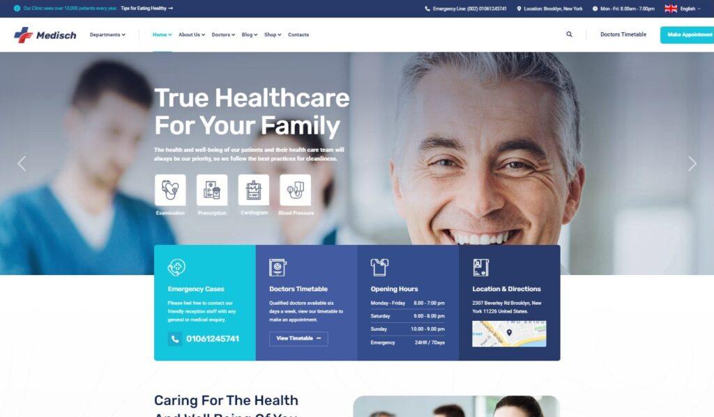 Medisch Health Medical WordPress Theme Preview ThemeForest