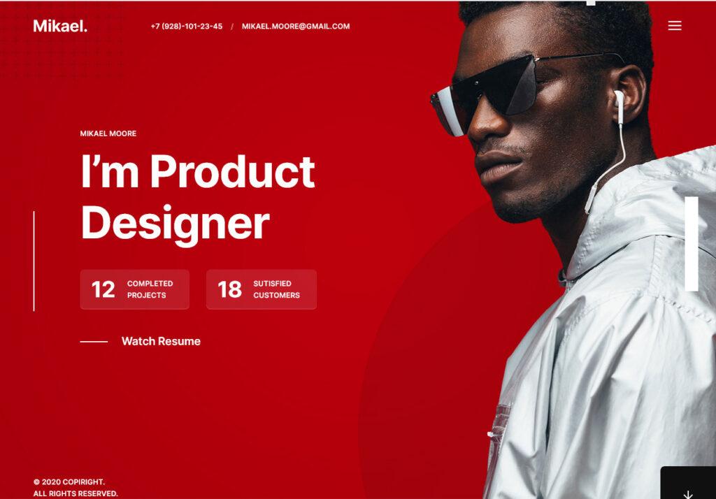 Mikael Modern Creative CV and Resume WordPress Theme