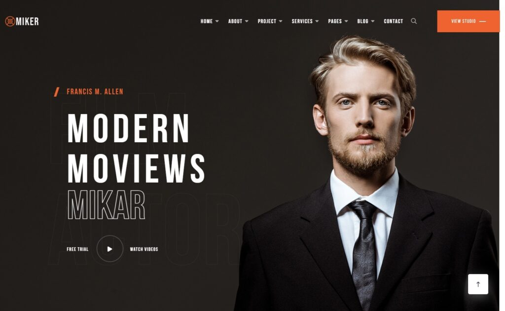 Miker Movie and Film Studio WordPress Theme