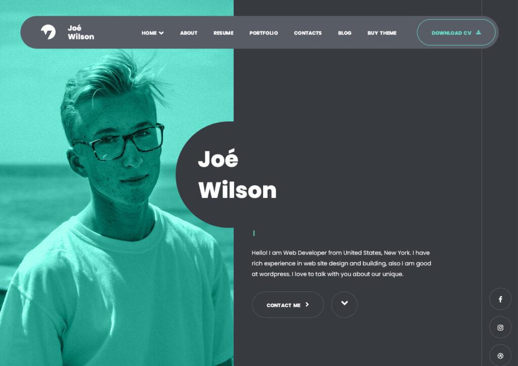 Myour One Page Resume WordPress Theme