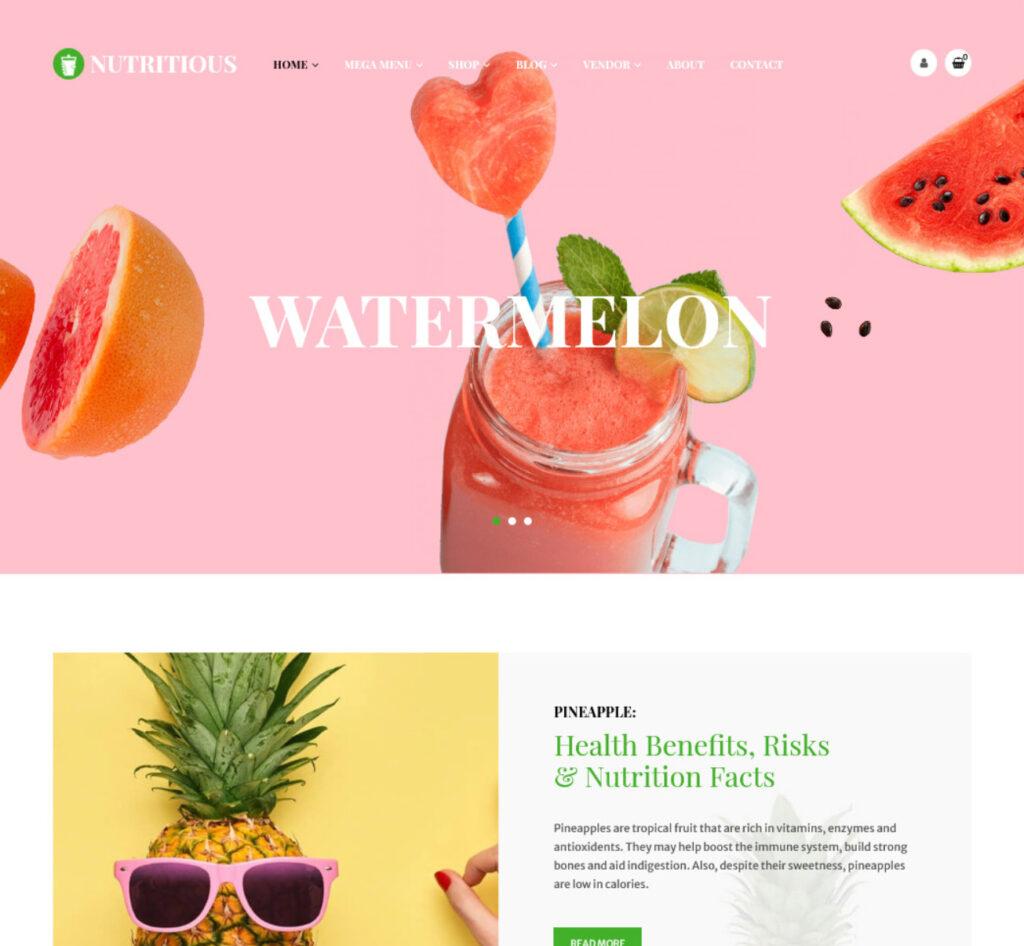 Nutritous Organic Juices WordPress Theme