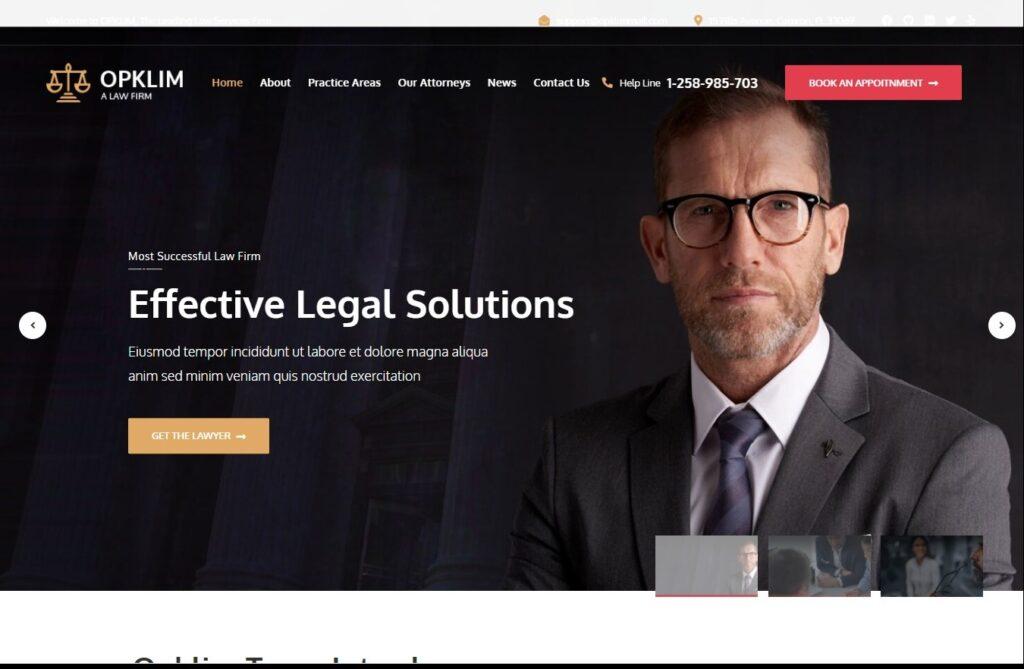 Opklim Law Firm WordPress Theme Preview ThemeForest