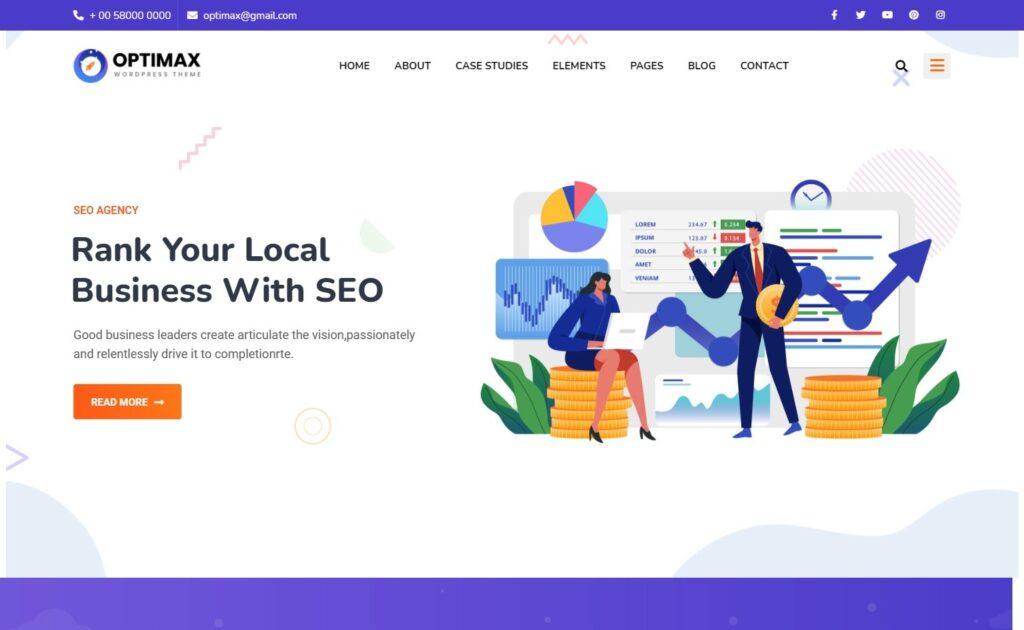 Optimax SEO and Marketing Company WordPress Theme
