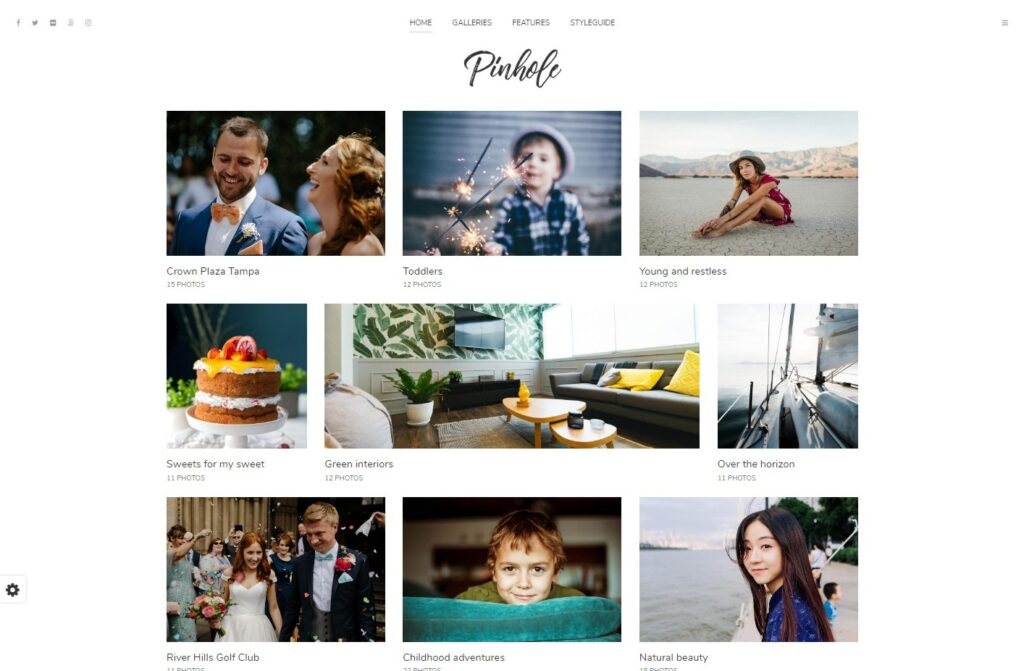 Pinhole Beautiful WordPress Theme for Potrait Photographers
