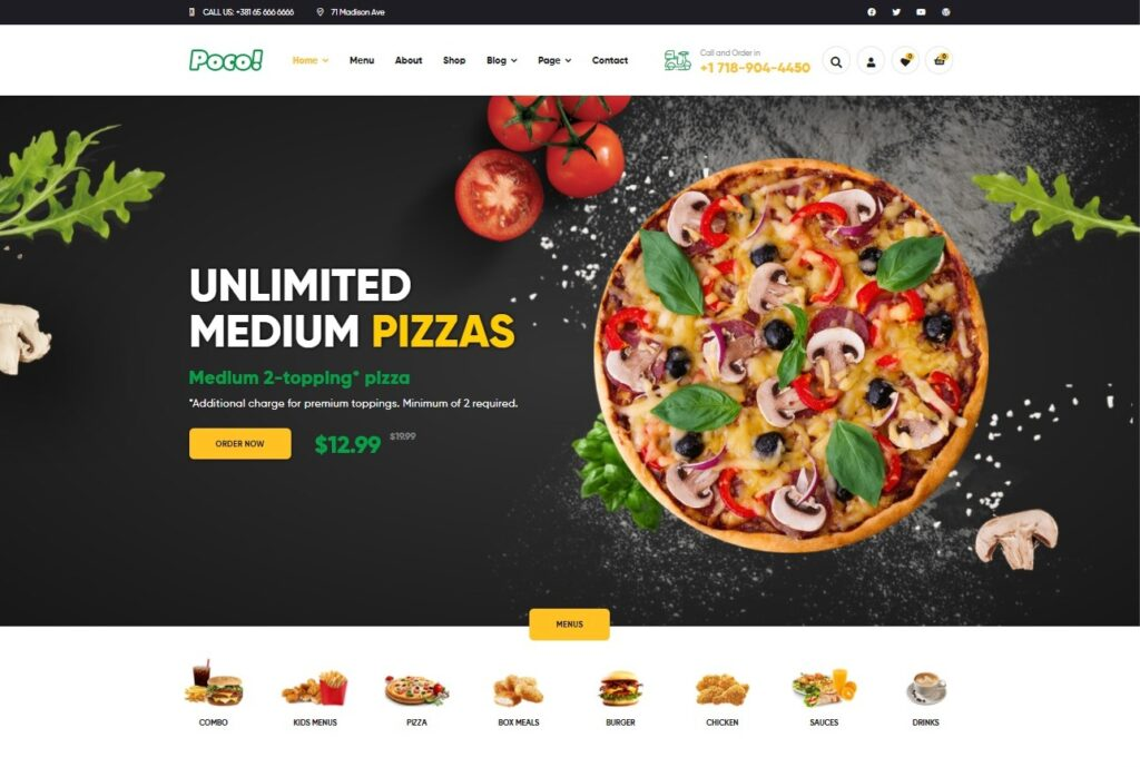 Poco Fast Food Restaurant WordPress Theme