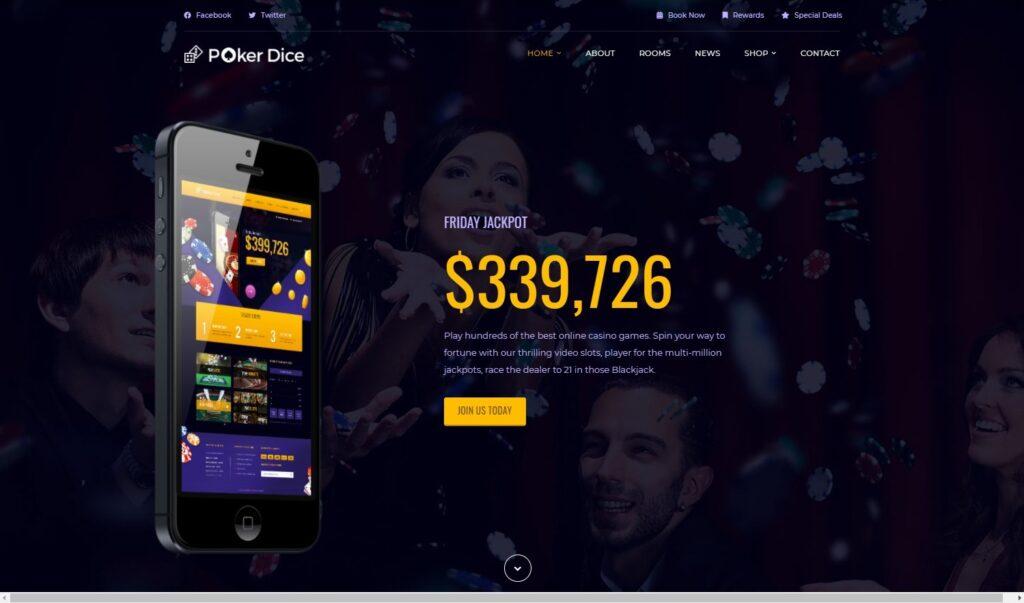 Poker Dice Casino Resort Hotel Theme