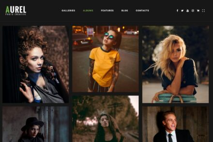 Portrait Photography Portfolio WordPress Themes