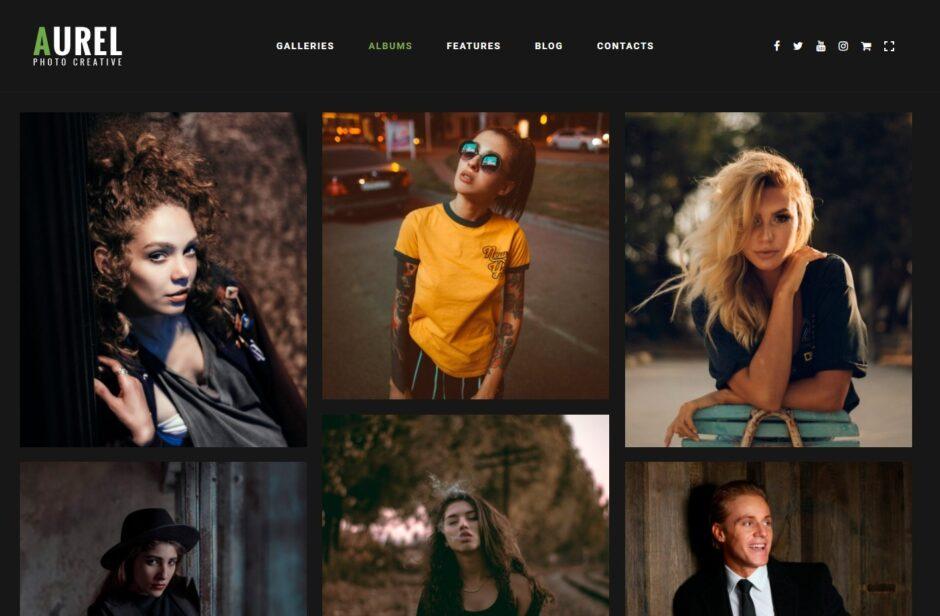 Portrait Photography Portfolio WordPress Themes