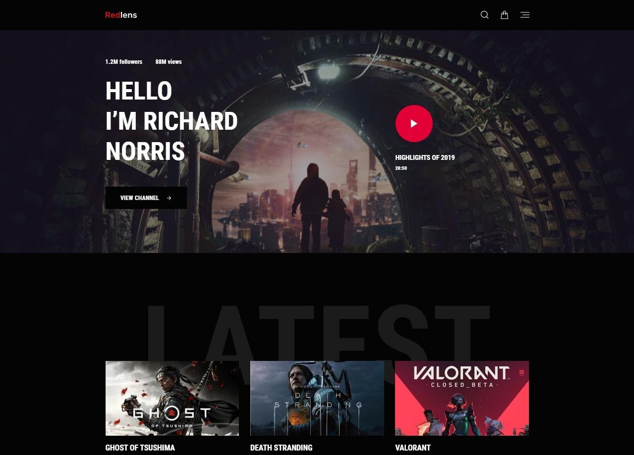 Redlens Dark Demo – Video Blog WordPress Theme