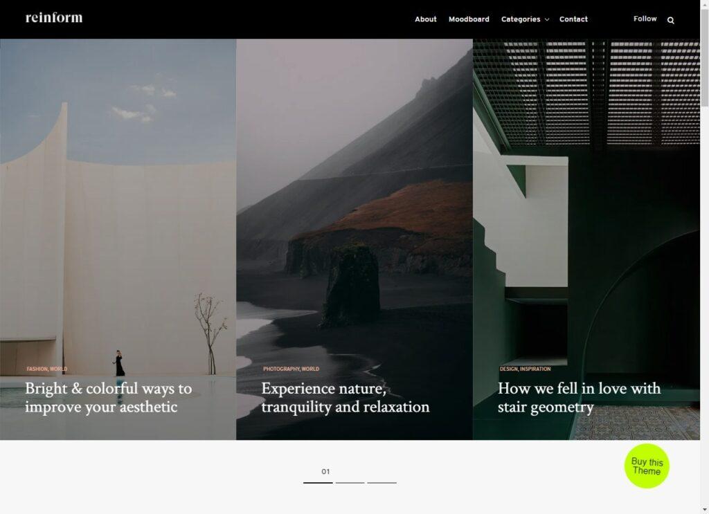 Reinform WordPress Theme Demo Themes Kingdom