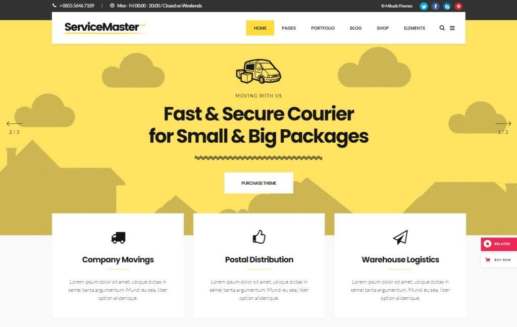 Service Master – A Multi concept Theme for Small Businesses
