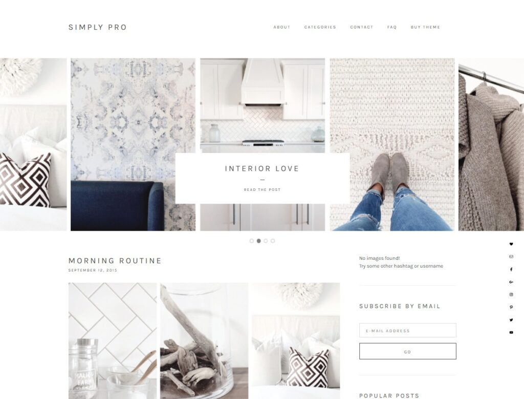 Simply Pro – Simply Pro is a very modern theme following the design trends set by the top bloggers.