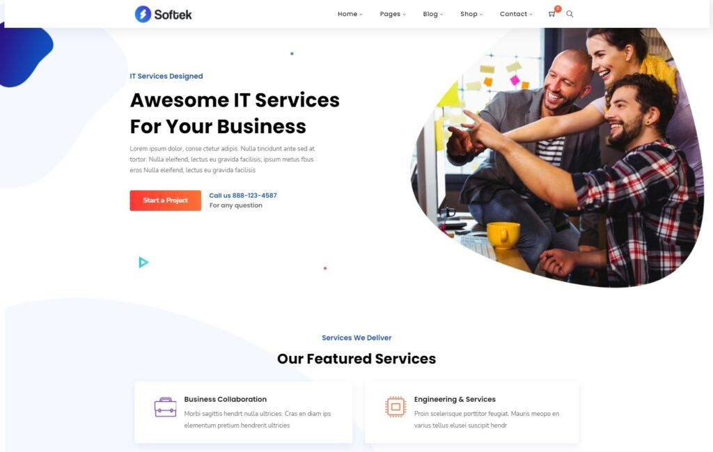 Softek – Powerful Software IT Services WordPress Theme