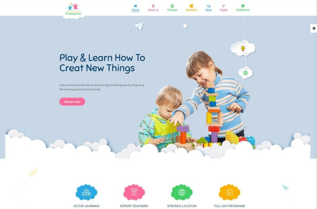 StarKid Kindergarten WordPress Theme Preview ThemeForest