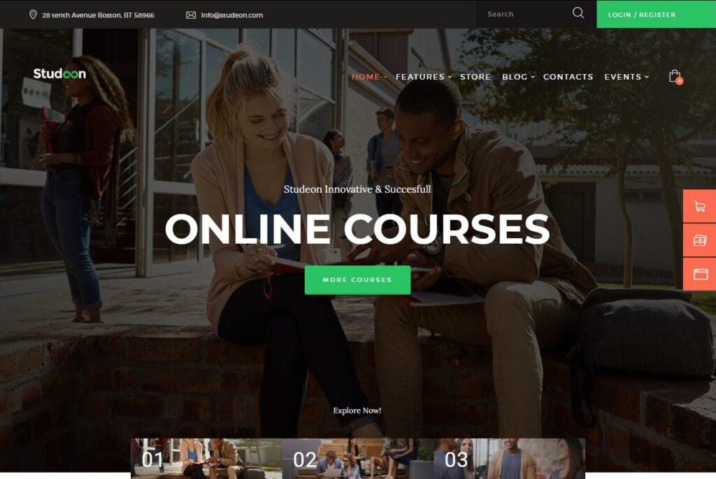 Studeon An Education Center Training Courses WordPress Theme Preview ThemeForest