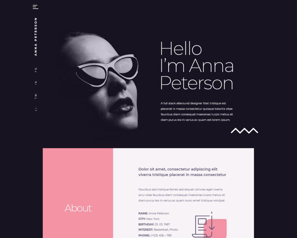 Teoro One Page CV Resume WordPress Theme