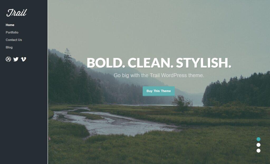 Trail Personal Portfolio WordPress Theme
