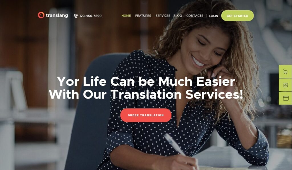 Translang Translation Services Language Courses WordPress Theme Preview ThemeForest