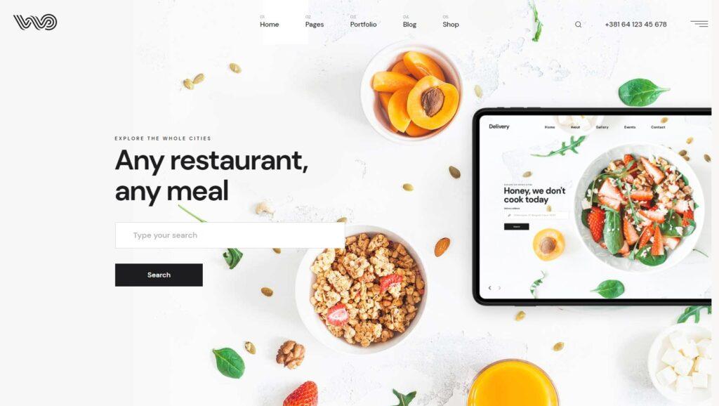 WebOn Fast Food Delivery WordPress Theme