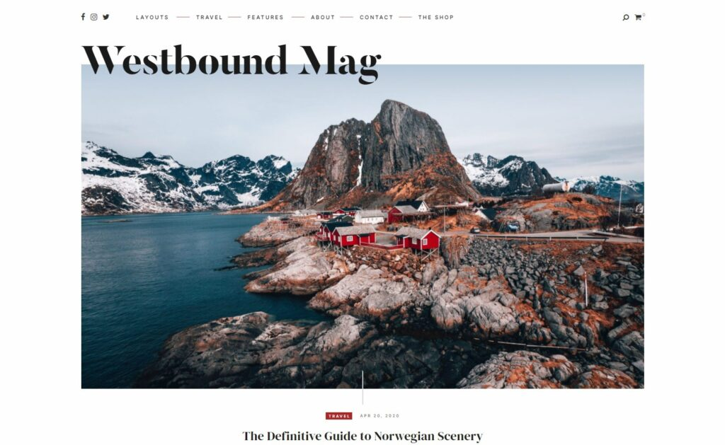 Westbound Mag A Magazine Theme for Storytellers