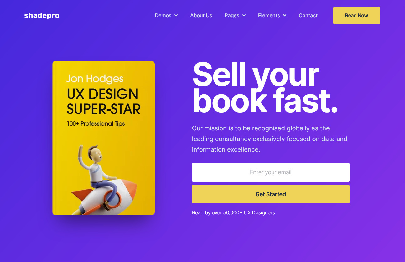 eBook Sales WordPress Theme from ShadePro