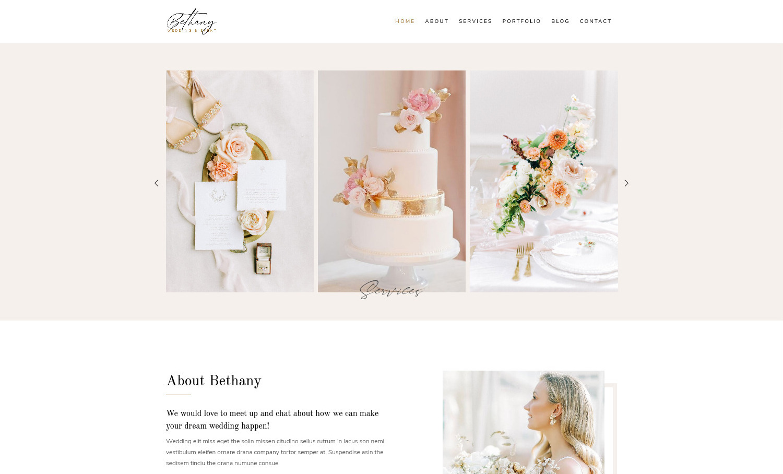 Bethany Wedding and Wedding Events Planner WordPress Themes