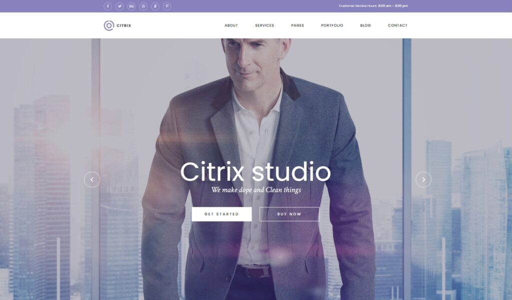 Citrix Business WordPress Theme Preview ThemeForest