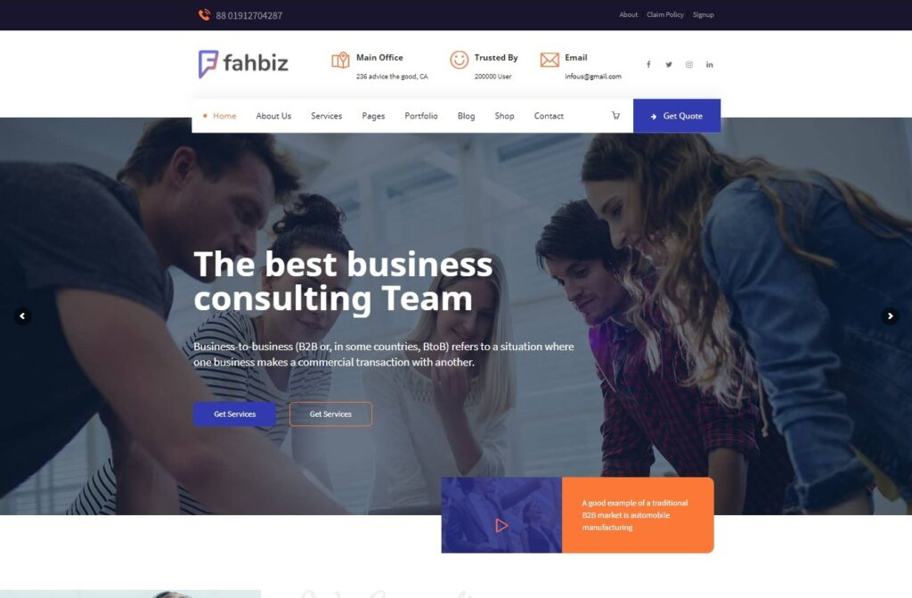 Fahbiz Finance Consulting WordPress Theme Preview ThemeForest