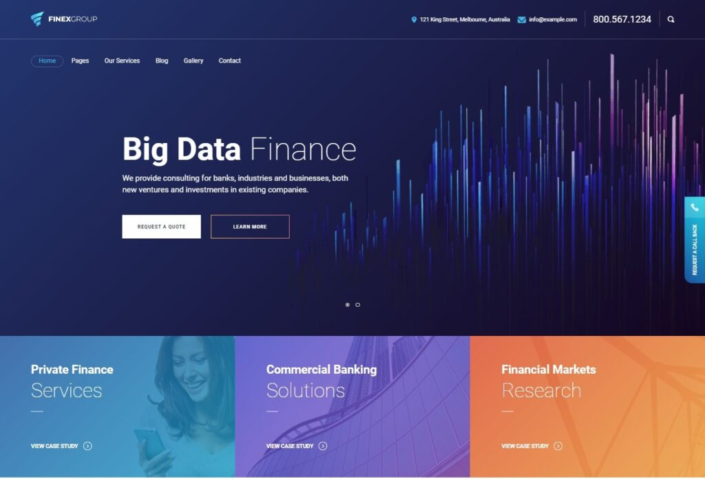 Finexgroup – Finance And Business WordPress theme