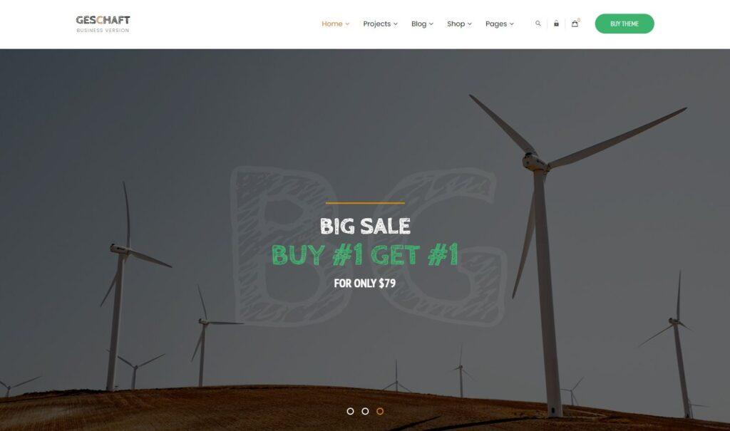 Geschaft Business WooCommerce WordPress Theme Preview ThemeForest