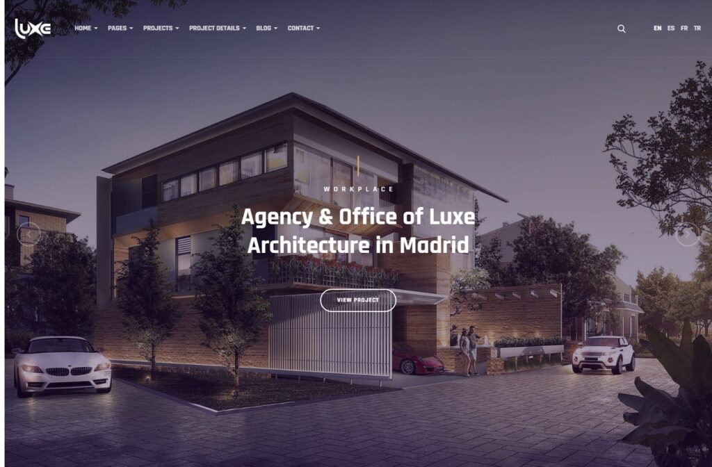Luxe, WordPress Construction and Architecture Theme