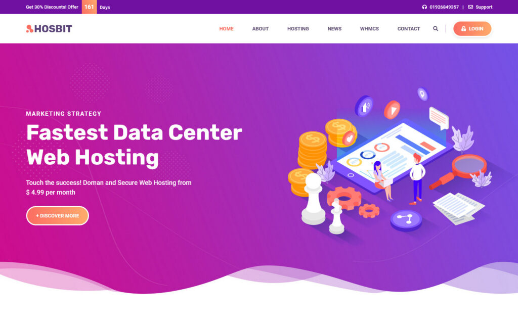 Hosbit VPN and Webhosting WP Theme