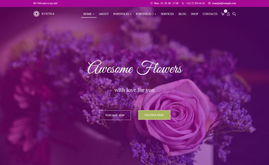 Kvetka Flower Shop and Floral Studio WordPress Theme