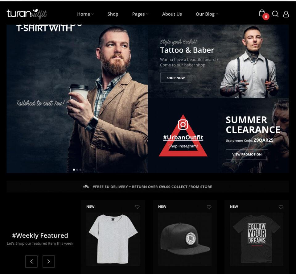 Mens Fashion WordPress Themes