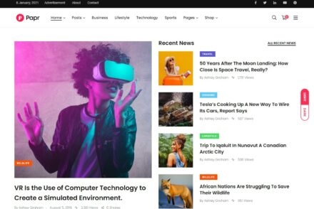 Minimalist WordPress Magazine Themes