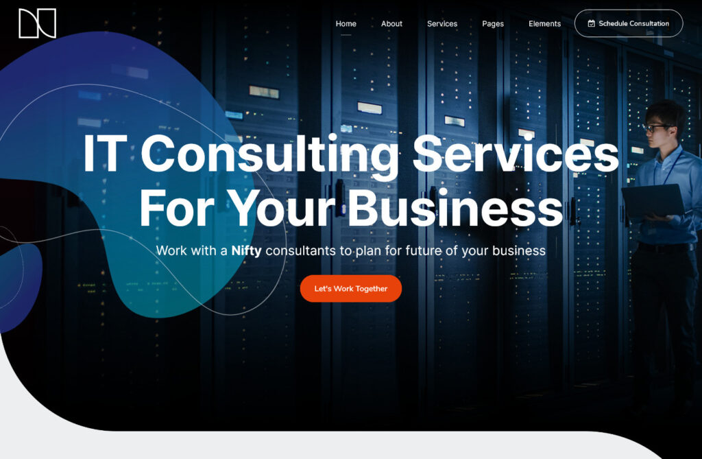 Nifty Business Consulting WordPress Theme