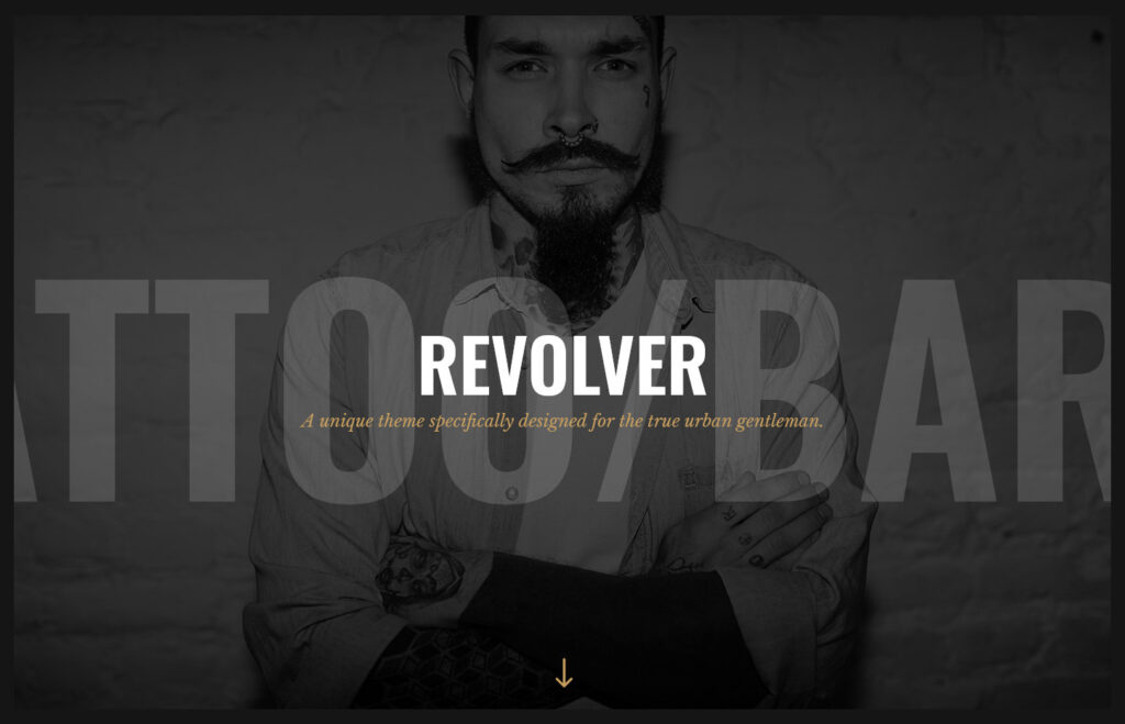 Revolver Tattoo Studio and Barbershop Theme