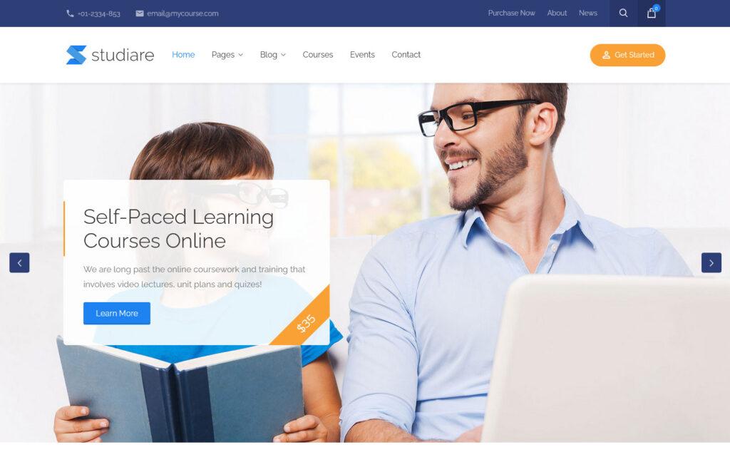 Studiare – WordPress Theme for Courses Schools Education